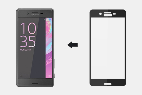 3D �������� ������ Ainy Full Screen Cover ��� Sony Xperia X ������ 0.2mm