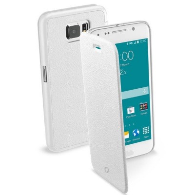 Чехол-книжка CELLULAR LINE Book Essential Pocket для Samsung Galaxy S6 белый
