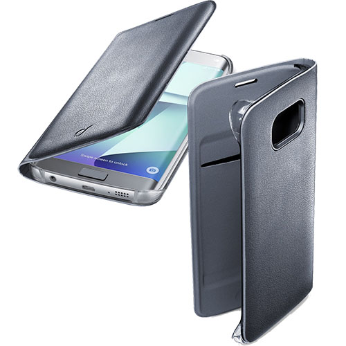 Чехол-книжка CELLULAR LINE Flip Book для Samsung Galaxy S7 Edge черный чехол для samsung galaxy s7 cellular line book agenda bookaggals7k black