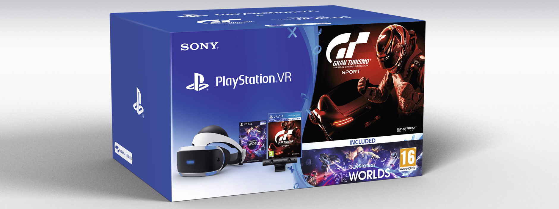Sony PS VR (CUH-ZVR1EY) Система виртуальной реальности для PlayStation 4 + игра VRW VCH + игра GTS + PS4 Камера v2 [PS719951162] приставка sony playstation 4 slim 1tb fifa18
