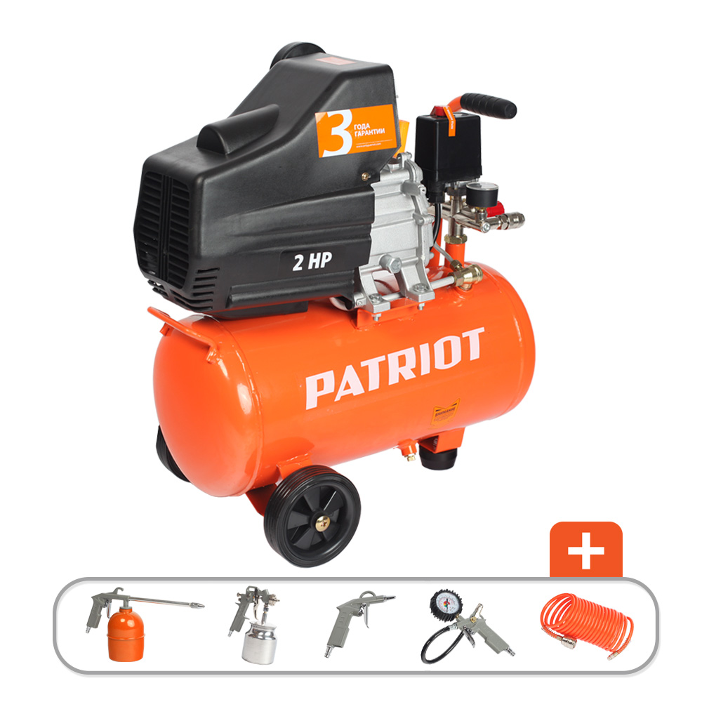 Компрессор Patriot EURO 24-240K компрессор patriot wo 24 160