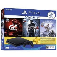 Игровая консоль SONY PS4 500 GB Gran Turismo Sport, Horizon Zero Dawn CE и Uncharted 4_SONY _0_Черный