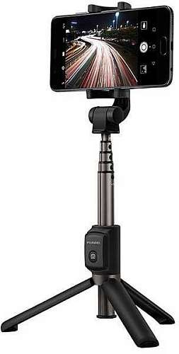 Беспроводной монопод-штатив_Huawei CF15 black Tripod & Selfie Stick Combo (2 in1)/Remote Control/Bluetooth 3.0/CR2025 lithium coin battery/360° Free Rotation/6-Stage Extendable Stick/660 mm__