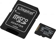 карта памяти SDXC-micro Card 64GB Kingston SDCS/64GB Canvas Select + Adapter
