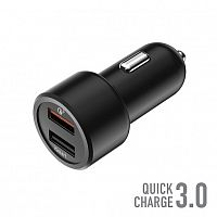Автомобильное ЗУ_OLMIO 2USB, 30W, 5.4A, QuickCharge3.0, Smart IC__