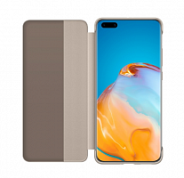 Чехол_Huawei Smart View Flip Cover для Huawei P40 PRO, хаки__