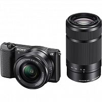 Фотоаппарат Sony Alpha ILCE-5100Y Double Kit 16-50 PZ + 55-210, черный