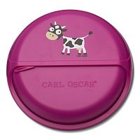 Ланч-бокс_Carl Oscar SnackDISC™ Spider Cow фиолетовый__