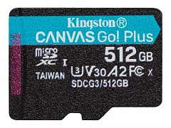 Карта памяти Kingston microSDXC Canvas Go Plus SDCG3/512GBSP 512 Гб