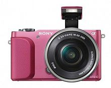 "Фотоаппарат Sony Alpha A5000LP розовый 20.1Mpix 3"" 1080p WiFi E PZ 16-50 мм F3.5-5.6 OSS NP-FW50"